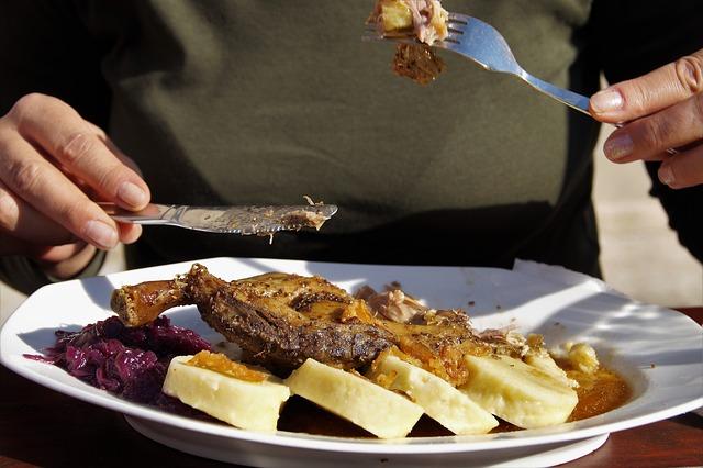 Muž je mastné mäso s pareným knedlíkom.jpg